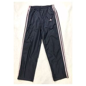 ADIDAS Blue Pink Lined Athletic Pants